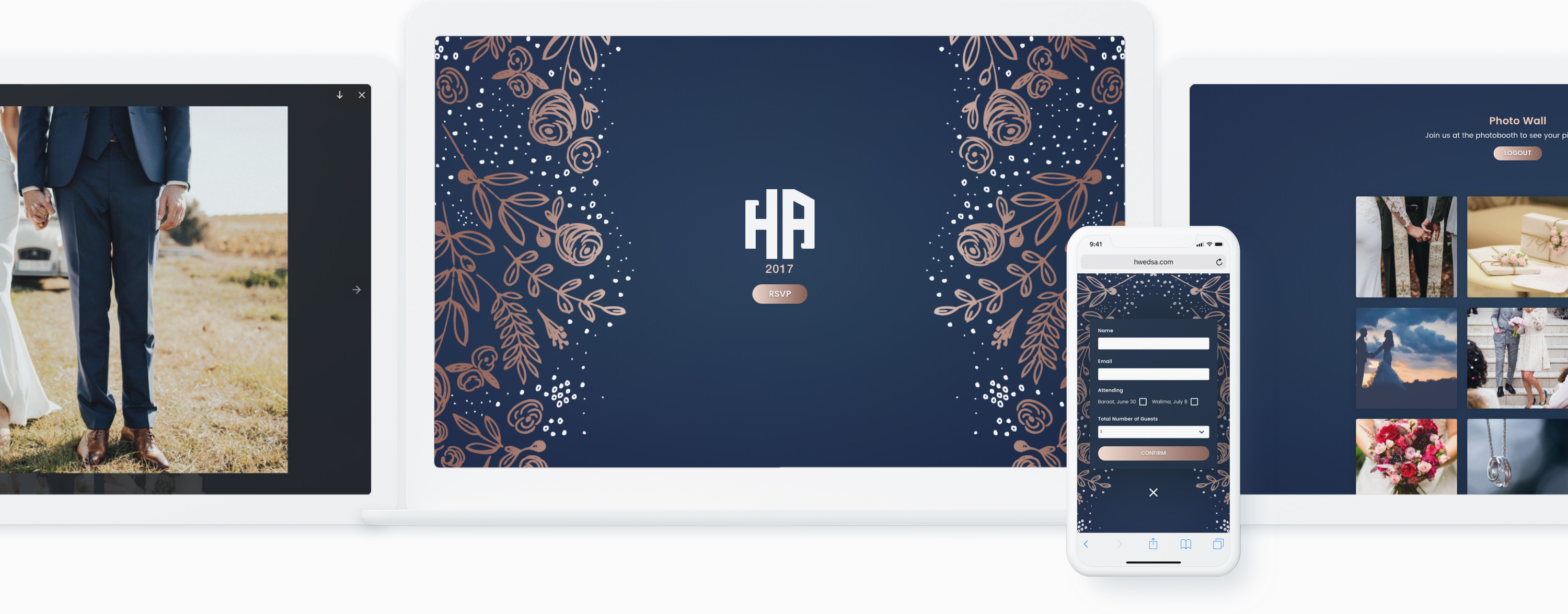 Responsive Mockup of H Weds A