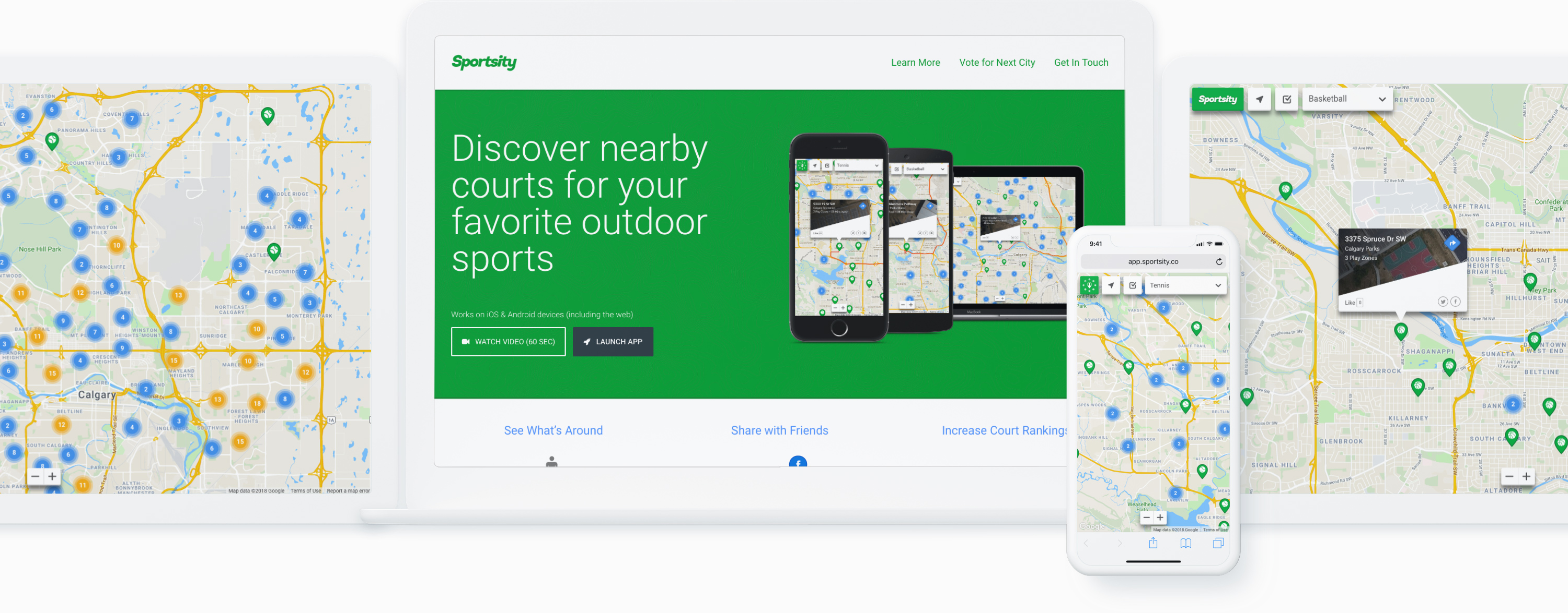 Responsive Mockup of Sportsity